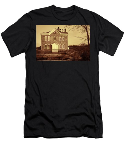 Saugerties Lighthouse Sepia Men's T-Shirt (Athletic Fit)