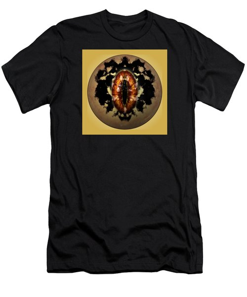 Men's T-Shirt (Slim Fit) featuring the digital art Sauron's Eye by Mario Carini