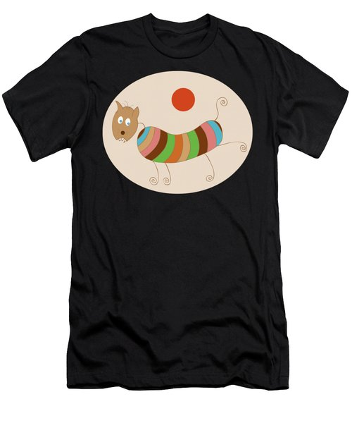 Sausage Dog In Ketchup Sunset Men's T-Shirt (Athletic Fit)