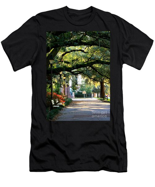 Savannah Park Sidewalk Men's T-Shirt (Athletic Fit)