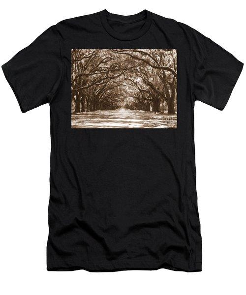 Savannah Sepia - Glorious Oaks Men's T-Shirt (Athletic Fit)
