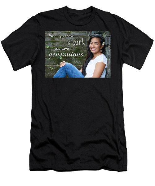 Save A Girl Men's T-Shirt (Athletic Fit)