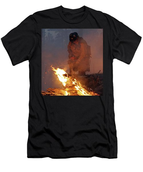 Sawyer, North Pole Fire Men's T-Shirt (Athletic Fit)