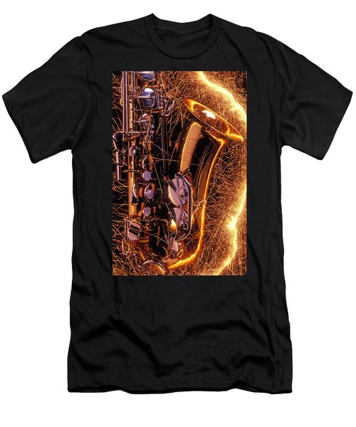 Sax With Sparks Men's T-Shirt (Athletic Fit)