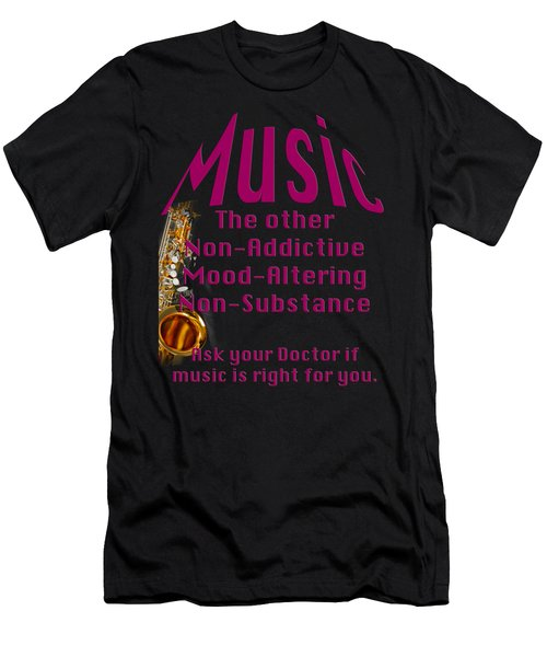 Saxophone Music Is Right For You 5494.02 Men's T-Shirt (Athletic Fit)