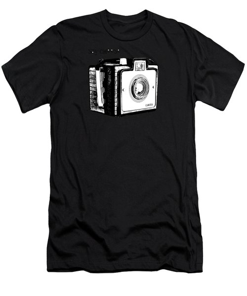 Say Cheese Old Camera T-shirt Men's T-Shirt (Athletic Fit)