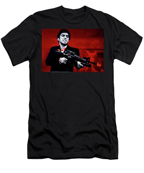 Say Hello To My Little Friend  Men's T-Shirt (Athletic Fit)