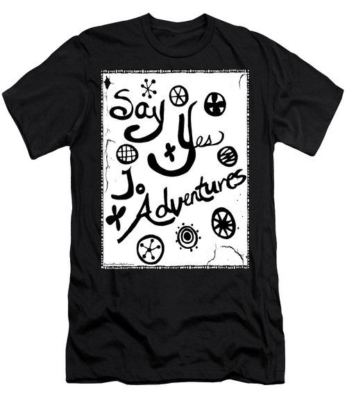 Say Yes To Adventures Men's T-Shirt (Athletic Fit)