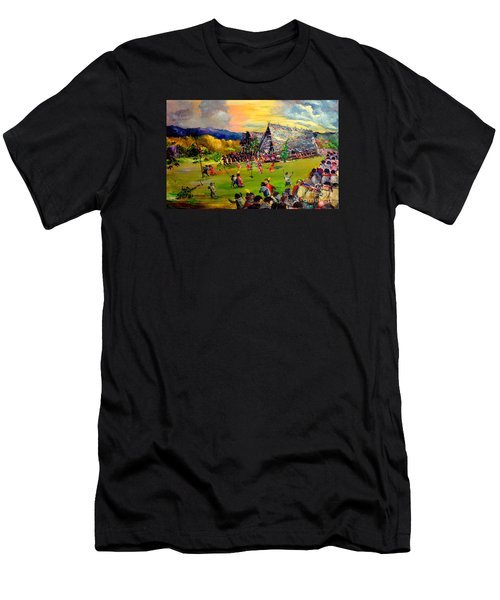 Men's T-Shirt (Slim Fit) featuring the painting Sbiah Baah by Jason Sentuf