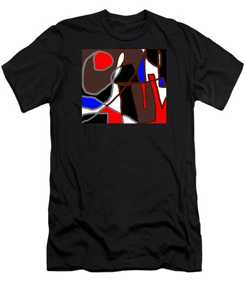 Scandal In Bohemia Original Abstract Expressionism Art Painting Men's T-Shirt (Athletic Fit)