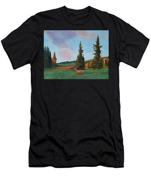 Scapegoat Summer Sunset Men's T-Shirt (Athletic Fit)