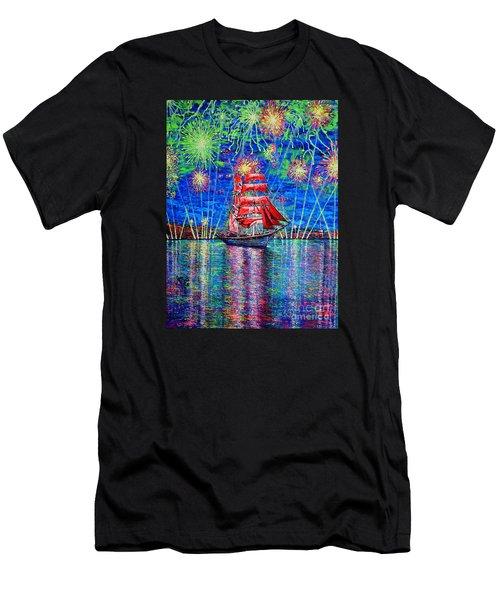Scarlet Sail Men's T-Shirt (Athletic Fit)