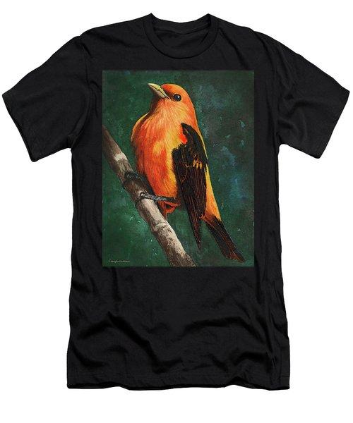 Scarlet Tanager Men's T-Shirt (Athletic Fit)