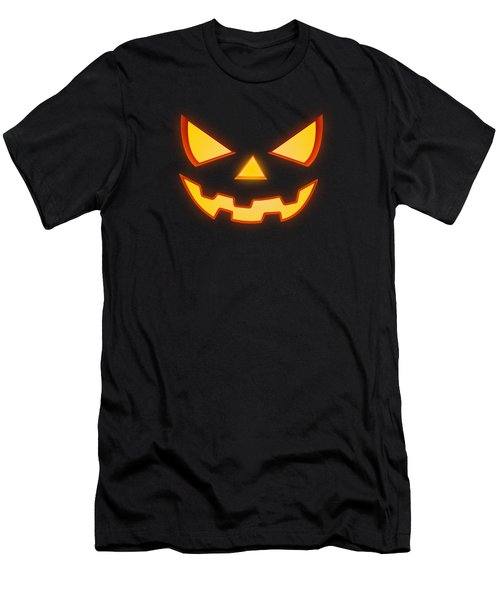Scary Halloween Horror Pumpkin Face Men's T-Shirt (Athletic Fit)