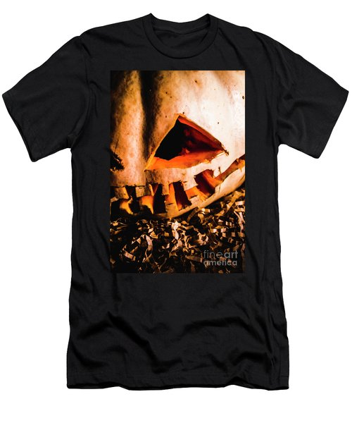 Scary Jack O Lantern. Halloween Faces Men's T-Shirt (Athletic Fit)