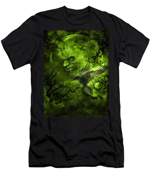 Scary Moon Men's T-Shirt (Athletic Fit)