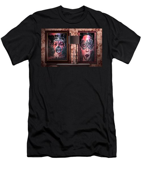 Scary Museum Wallart Men's T-Shirt (Athletic Fit)