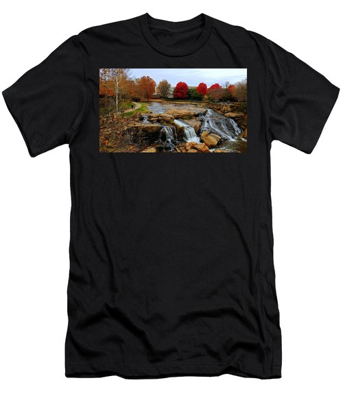 Scene From The Falls Park Bridge In Greenville, Sc Men's T-Shirt (Athletic Fit)
