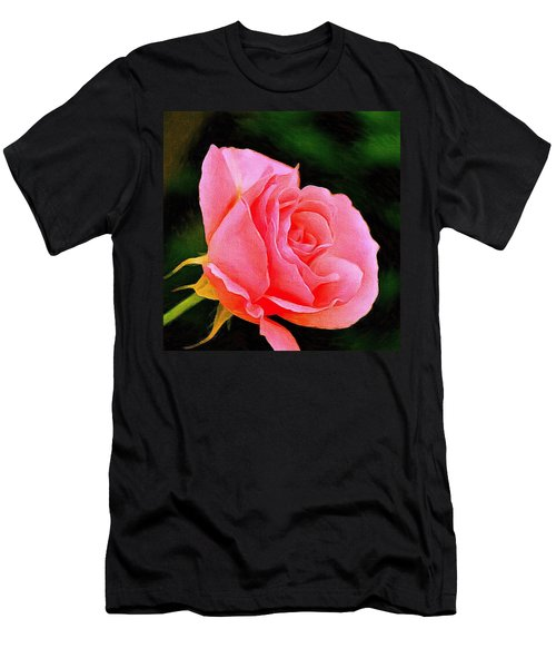 Scented Pink Rose Men's T-Shirt (Athletic Fit)