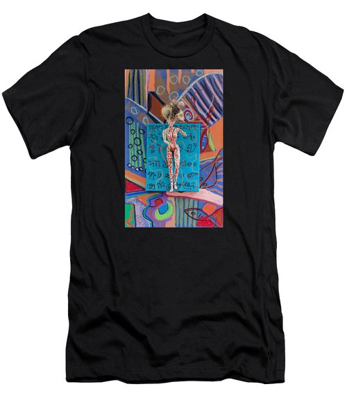 Men's T-Shirt (Slim Fit) featuring the painting Schisandra Berry Herbal Tincture by Clarity Artists
