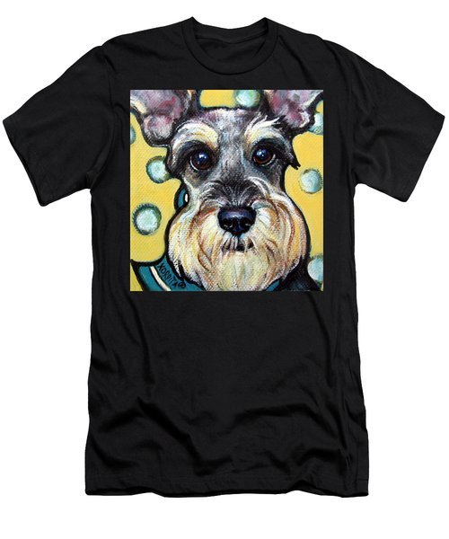 Schnauzer With Polkadots Men's T-Shirt (Athletic Fit)