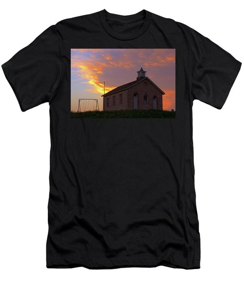Men's T-Shirt (Slim Fit) featuring the photograph School Sunset by Christopher McKenzie