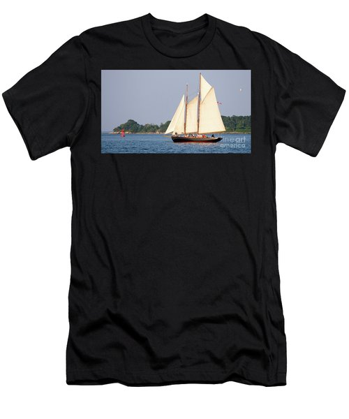 Schooner Cruise, Casco Bay, South Portland, Maine  -86696 Men's T-Shirt (Athletic Fit)