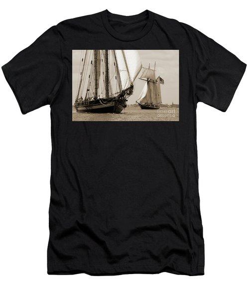 Schooner Pride Of Baltimore And Lynx Men's T-Shirt (Athletic Fit)