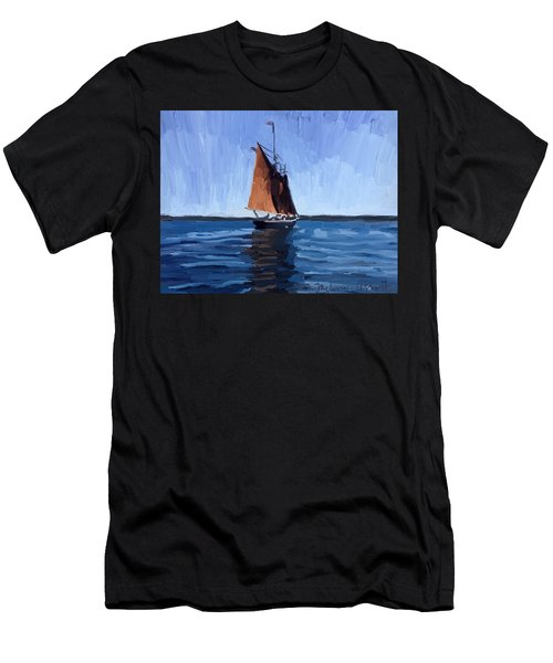 Schooner Roseway In Gloucester Harbor Men's T-Shirt (Athletic Fit)