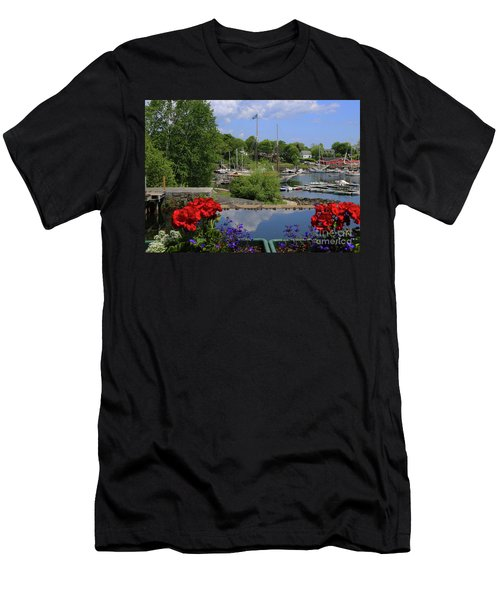 Schooners And Flowers, Camden, Maine Men's T-Shirt (Athletic Fit)