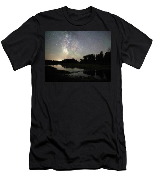 Schwabacher's Landing At Night Men's T-Shirt (Athletic Fit)