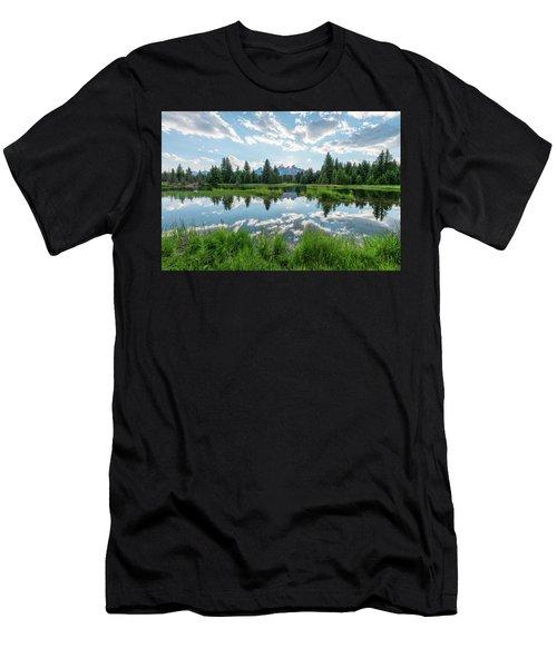 Schwabacher's Landing Men's T-Shirt (Slim Fit) by Dustin LeFevre