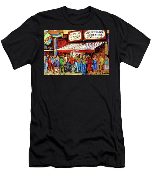 Schwartzs Deli Lineup Men's T-Shirt (Athletic Fit)