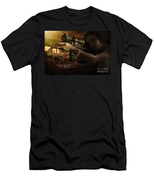 Scopped Men's T-Shirt (Athletic Fit)
