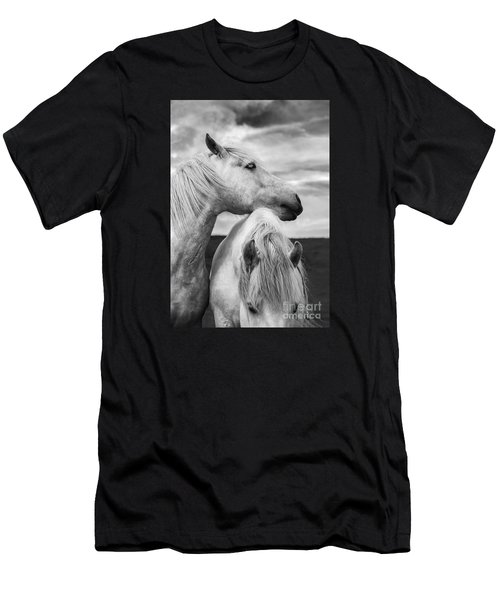 Scottish Horses Men's T-Shirt (Athletic Fit)