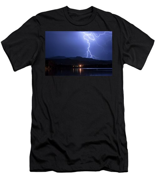 Men's T-Shirt (Slim Fit) featuring the photograph Scribble In The Night by James BO Insogna