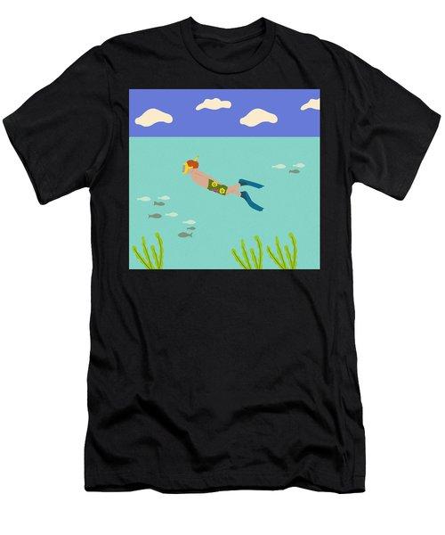 Scuba Boy Men's T-Shirt (Athletic Fit)