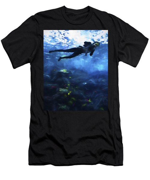 Scuba Diver Men's T-Shirt (Athletic Fit)