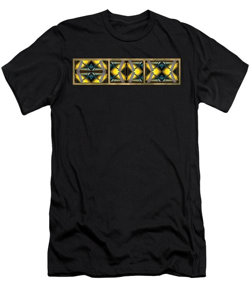 Sculpture On Southport N66v1 Triptych Men's T-Shirt (Slim Fit) by Raymond Kunst