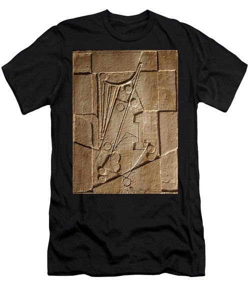 Sculptured Panel - Influenced By Picasso's Painting Having The Number 1 Men's T-Shirt (Athletic Fit)