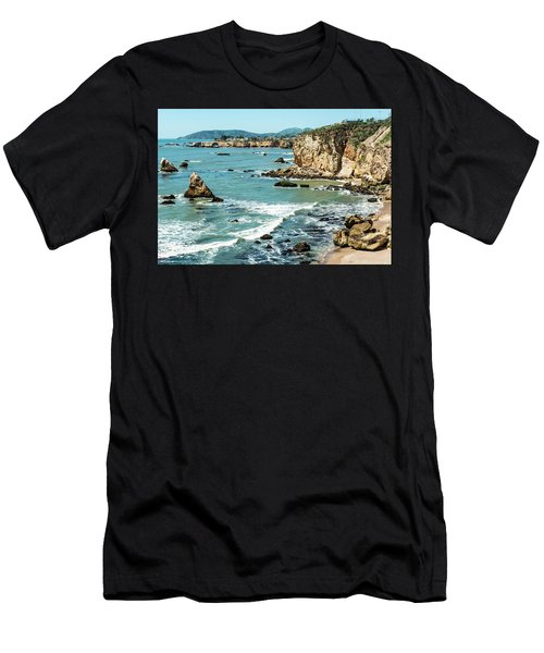 Sea And Cliffs Men's T-Shirt (Athletic Fit)