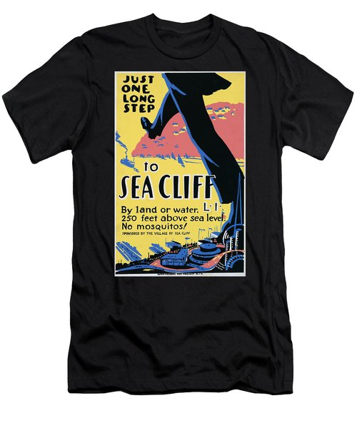 Sea Cliff Long Island Poster 1939 Men's T-Shirt (Athletic Fit)