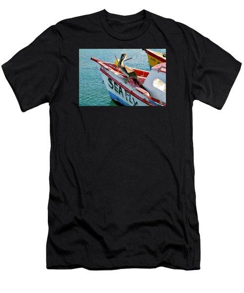 Sea Fly 1, Aruba Men's T-Shirt (Athletic Fit)