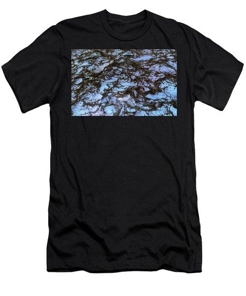Sea Foam Black And Blue Men's T-Shirt (Athletic Fit)