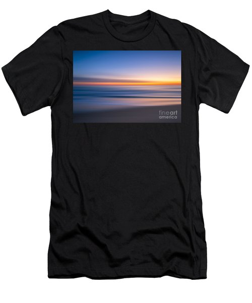 Sea Girt New Jersey Abstract Seascape Sunrise Men's T-Shirt (Athletic Fit)