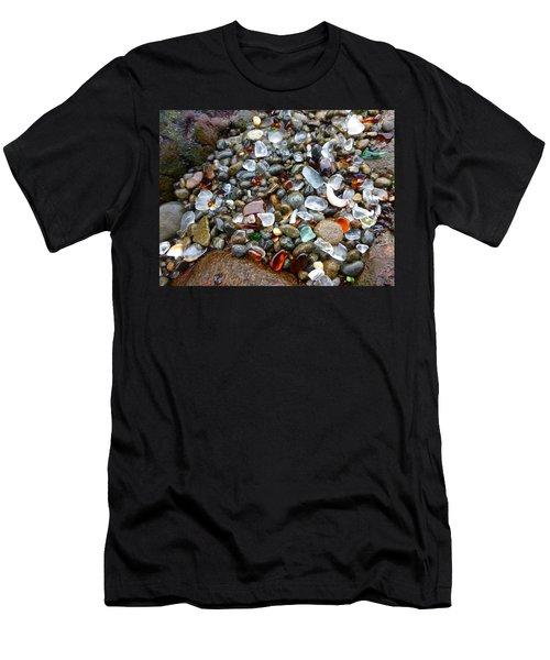 Sea Glass Gems Men's T-Shirt (Slim Fit) by Amelia Racca