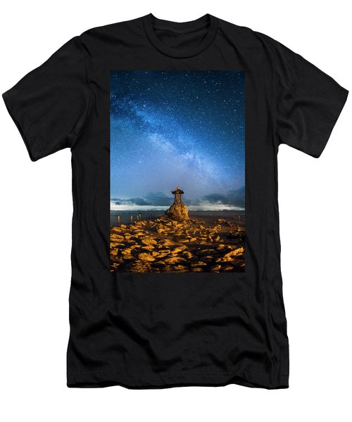 Men's T-Shirt (Athletic Fit) featuring the photograph Sea Goddess Statue, Bali by Pradeep Raja Prints