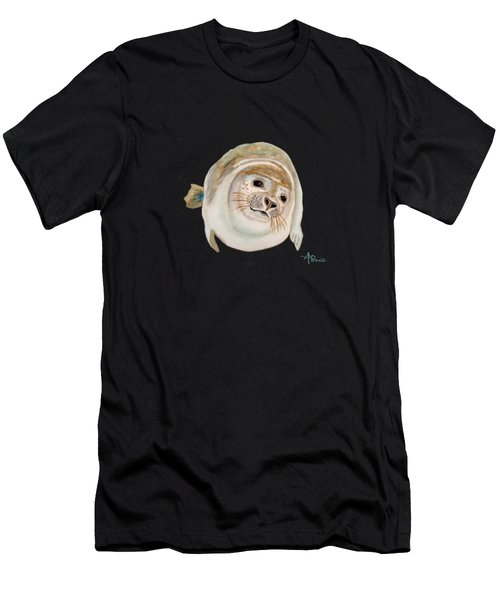 Sea Lion Watercolor Men's T-Shirt (Athletic Fit)