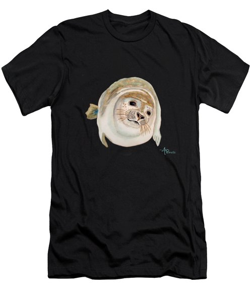 Men's T-Shirt (Athletic Fit) featuring the painting Sea Lion Watercolor by Angeles M Pomata