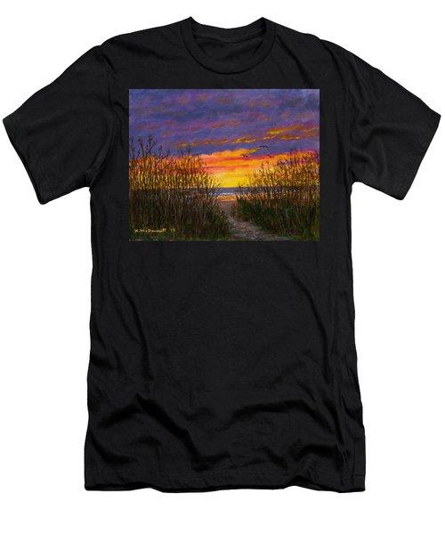 Sea Oat Sunrise # 2 Men's T-Shirt (Athletic Fit)